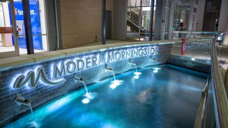 Dramatic Community Entrance With Water Feature | Modera Morningside