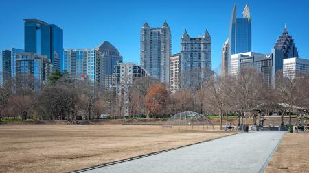 Atlanta Park with Skyline in Background | Modera Morningside