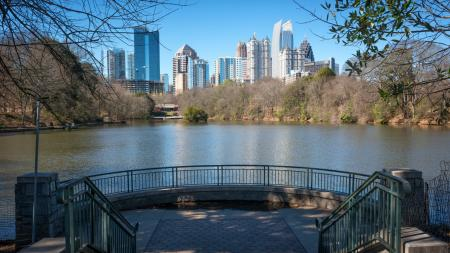 Atlanta Skyline from Piedmont Park | Modera Morningside