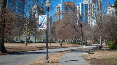 Atlanta Street and Lamp Post | Modera Morningside