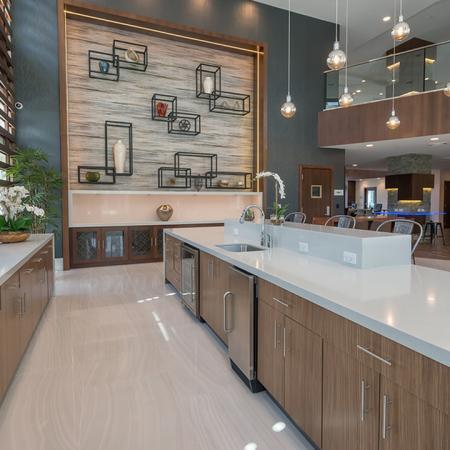 Clubroom Entertaining Kitchen | Modera Hopkinton