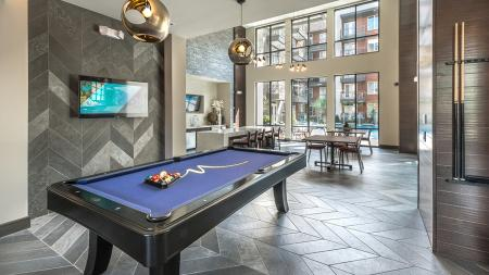 Challenge Friends to Billiards in our Clubhouse | Modera Near the Galleria