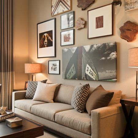 Living Room with Oversized Windows | Modera Port Royale