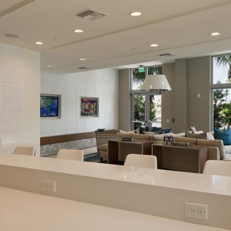 Clubroom Lounge with Televisions | Modera Port Royale