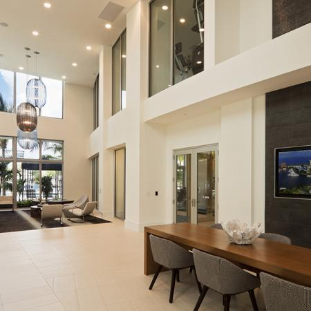 Lobby Area with TV | Modera Port Royale