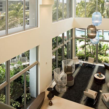 Interior Pool-Side Lounge | Modera Port Royale