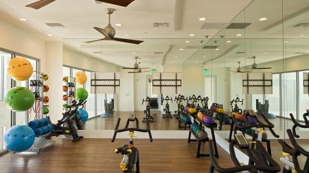 Spin Studio in Fitness Center | Modera Port Royale