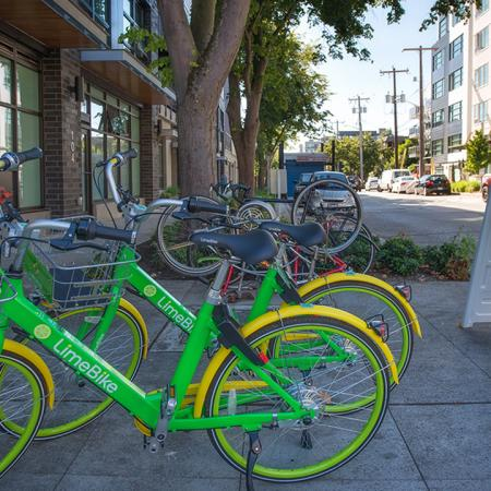Lime Bikes in Front of Community | Modera Ballard