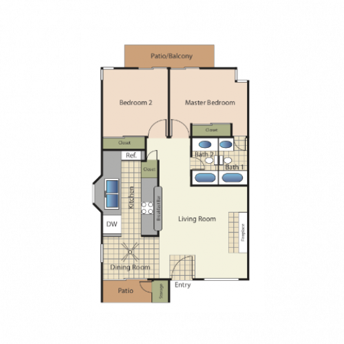Sandcastle Apartments: 2 Bed / 1 Bath Apartment In Carlsbad CA
