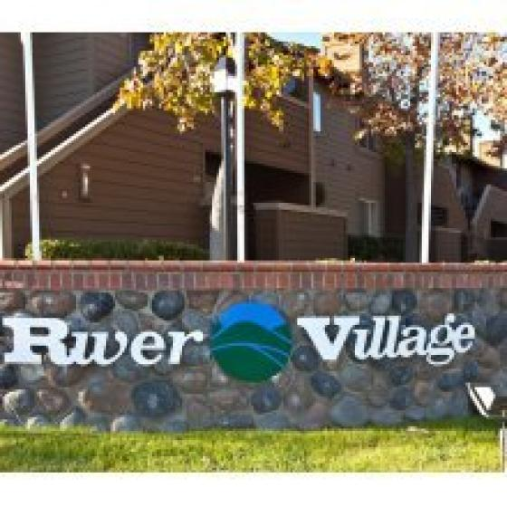 Sign for River Village Apartments for Rent in Escondido CA
