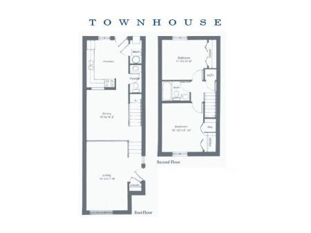 Two Bedroom Large Townhouse