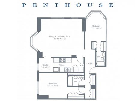 Two Bedroom Penthouse South Tower