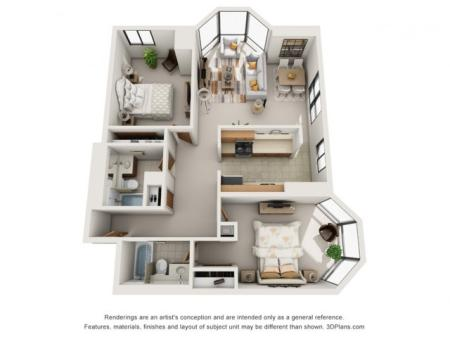 Two Bedroom (Split Layout)