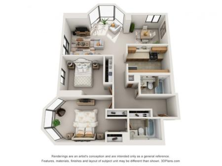 Two Bedroom (Paired Layout)