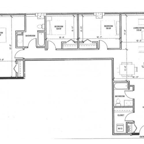 3 Bed 2 Bath Apartment In Milwaukee Wi Paper Box Lofts