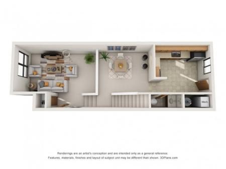 Two Bedroom Townhouse (Standard)