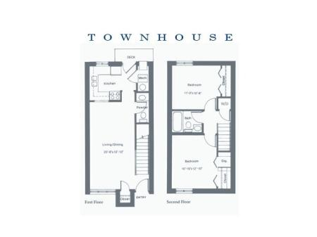 Two Bedroom Corner Townhouse