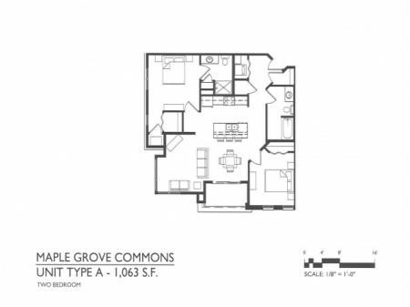 Maple Grove Commons A Floor Plans