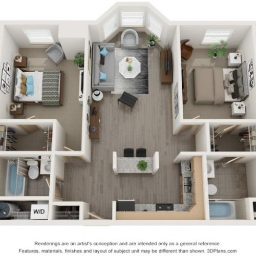 Two Bedroom Split