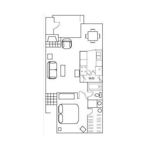 Floor Plan 3 | Apartments In Austin | Barton\'s Mill