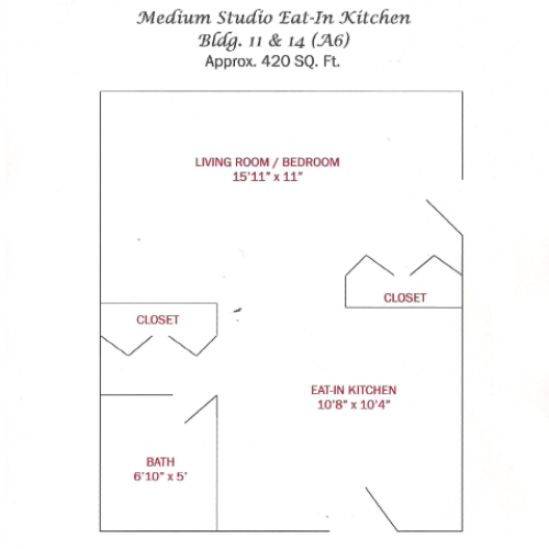 Medium Studio | 420 sqft