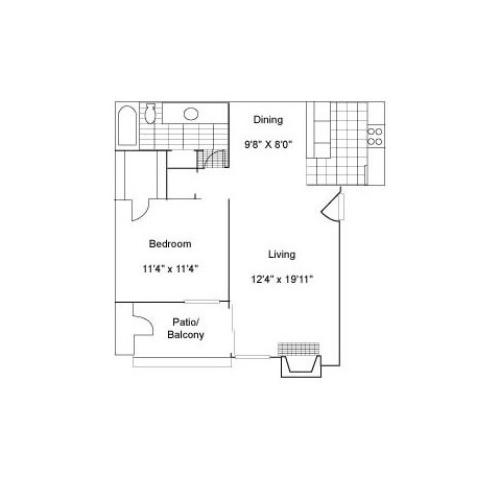 One Bedroom | 700 sqft