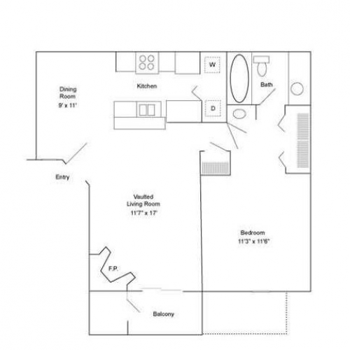 One Bedroom | 720 sqft