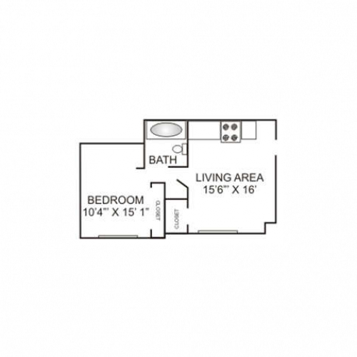 Jr. One Bedroom | 400 sqft