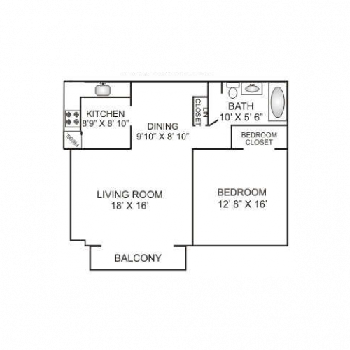 One Bedroom | 780 sqft