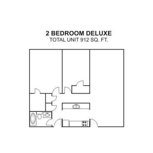 Two Bedroom Deluxe | 912 sqft