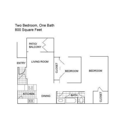 Floor Plan 4 | Austin Texas Luxury Apartments | Centennial Place Apartments