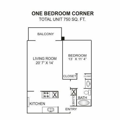 Floor Plan 2 | Luxury Rentals Charlotte Nc | Charlotte Woods
