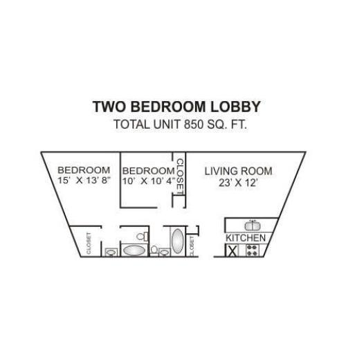 Floor Plan 4 | Charlotte Apartments | Charlotte Woods