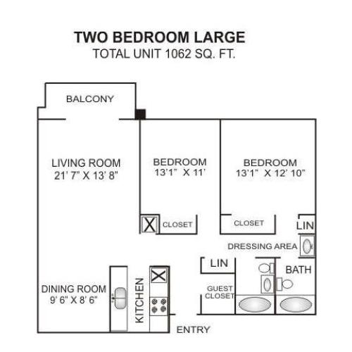 Floor Plan 6 | Apartments In Charlotte Nc | Charlotte Woods