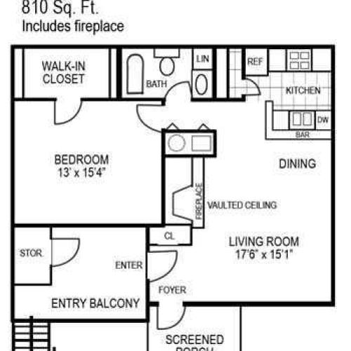 One Bedroom | 810 sqft
