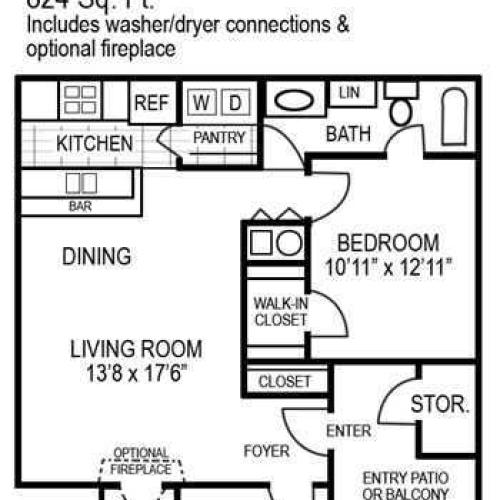 One Bedroom | 824 sqft