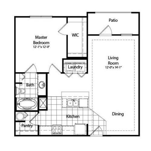 One Bedroom | Deluxe with Sunroom | 859 sqft