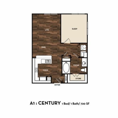 Floor Plan 4 | Apartments In San Antonio | 1800 Broadway