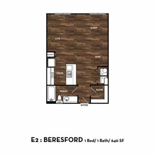 Floor Plan 2 | San Antonio Apartments | 1800 Broadway