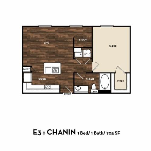 Floor Plan 3 | Luxury Apartments In San Antonio Texas | 1800 Broadway