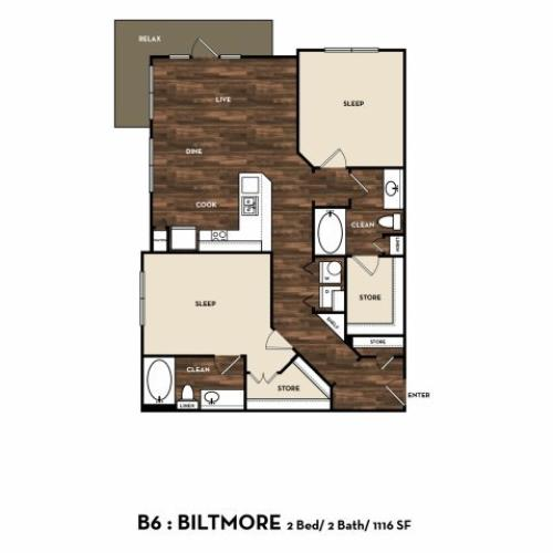 Floor Plan 9 | San Antonio Apartments | 1800 Broadway