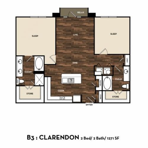Floor Plan 10 | Luxury Apartments In San Antonio Texas | 1800 Broadway