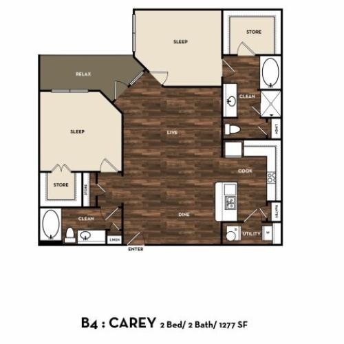 Floor Plan 11 | Luxury Apartments In San Antonio | 1800 Broadway