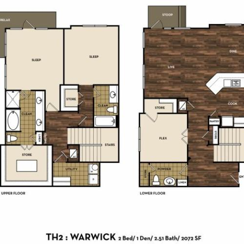 Floor Plan 14 | Apartments In San Antonio | 1800 Broadway