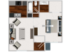 One Bedroom / One Bathroom, 601 sqft