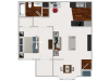 Our 1 bedroom with Morning Room, 711 sq ft home