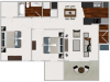 Our 2 bedroom/1 bath, 845 sq ft home