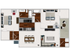 Our 2 bedroom/2bath, 924 sq ft home