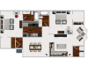 Our 2 bedroom/2 bath, with Morning Room,1009 sq ft home