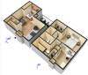 Two Bedroom/Two Bath Townhome 930sqft